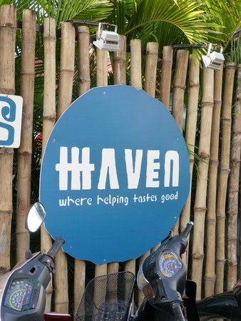 Haven: When you see this sign you know you are in the right place,