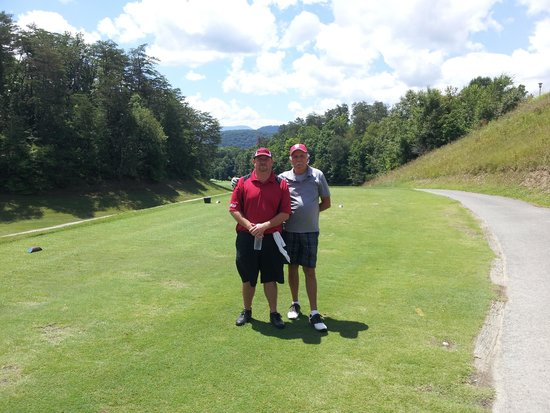 Gatlinburg Golf Course: The old man and I on #10