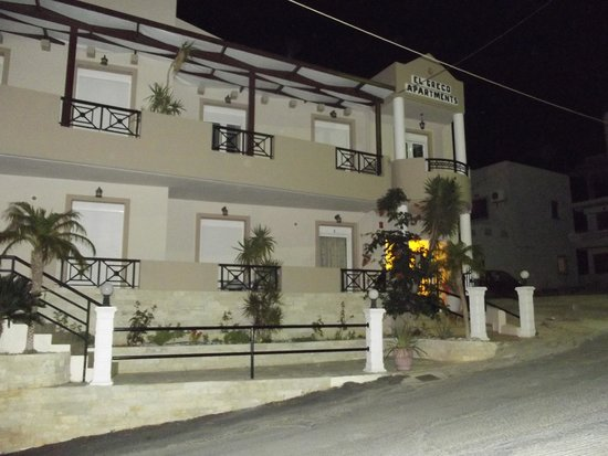 El Greco Apartments: The apartments at night