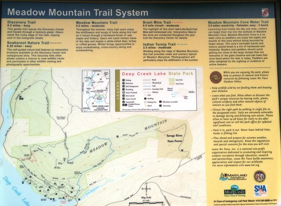 Deep Creek Lake State Park: Trail Sign