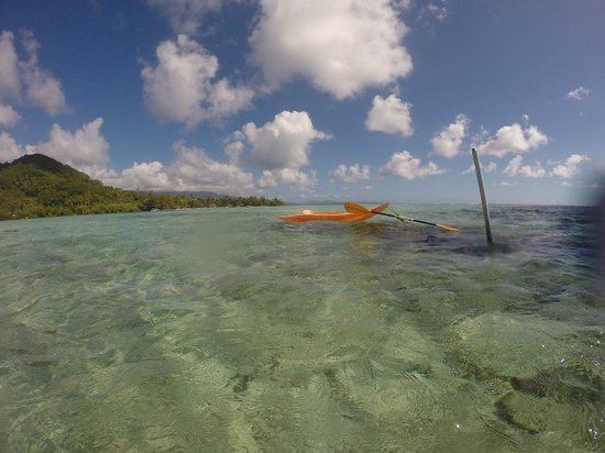 Hotel Atiapiti : Ankerplatz für das Seekayak am Riff