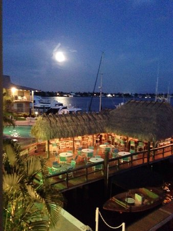 Cove Inn on Naples Bay: Tiki bar & pool from our balcony