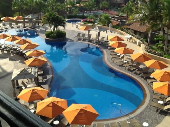 Pueblo Bonito Sunset Beach Golf & Spa Resort: View of Pool from Balcony (building 41)