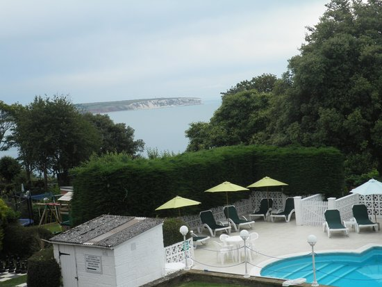 Luccombe Hall Hotel : Brilliant view, lovely outdoor pool