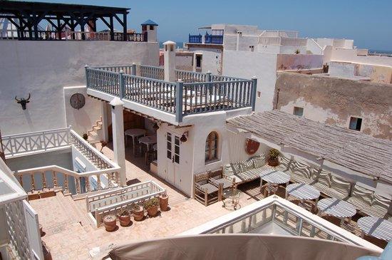 Riad Baladin: Dachterrasse