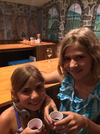 Stone Hill Winery: Even the kids got to try some Concord grape non-alcoholic wine! Yummy!
