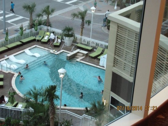 Hilton Garden Inn Virginia Beach Oceanfront: View Of Pool From 4th Floor Awesome Design