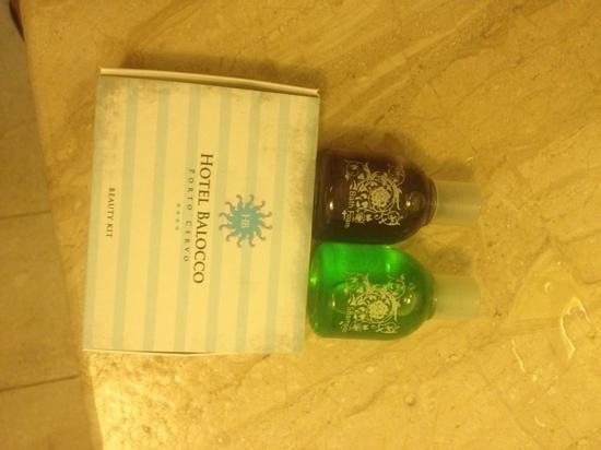 Balocco Hotel: Hotel Provided Shampoo, Gel, Beauty Kit
