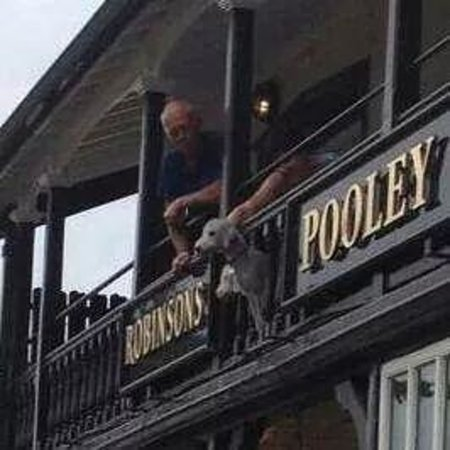 Pooley Bridge Inn: again on the balcony