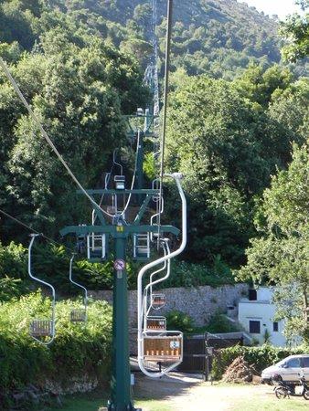 Mount Solaro: Sesselbahn