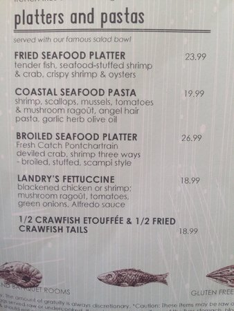 Landry's Seafood : 7/20/14