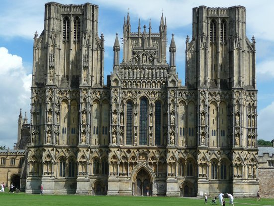Wells Cathedral on a great summers day