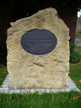 Wells Cathedral: Memorial Stone to Harry Patch