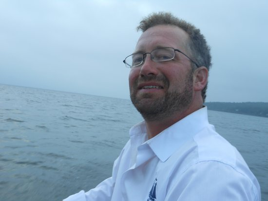 Schooner Stephen Taber Day Cruises: Captain Noah praying for the SUN to come out !!!