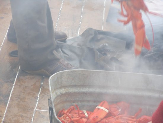 Schooner Stephen Taber Day Cruises: All you can eat Lobster Bake made by the Captain and delightful Crew !