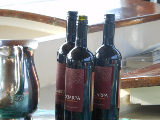 Schooner Stephen Taber Day Cruises: 3 of many wine put out for a 5 star dinner aboard the Stephen Tabor !