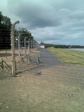 Buchenwald: Fence around the concentration camp