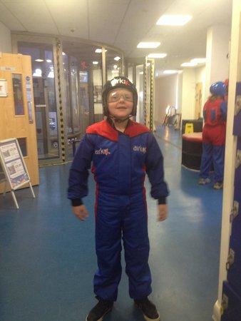 Airkix Indoor Skydiving Manchester: Alfie ready to fly