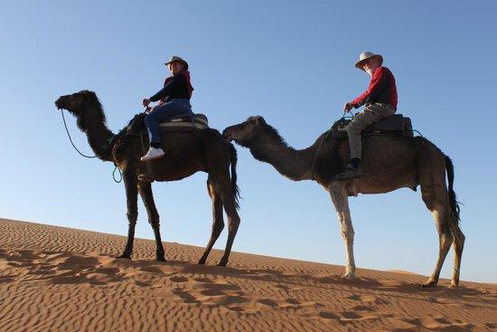 Desert Luxury Camp : us on camels' back