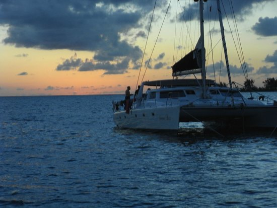 Anegada Island: Sunset from Loblolly resort, waiting for the lobster to cook. . .