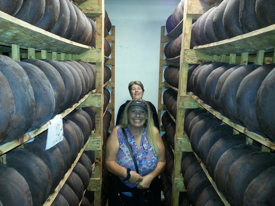 Sonoma Segway: Aging room, Vella Cheese Factory