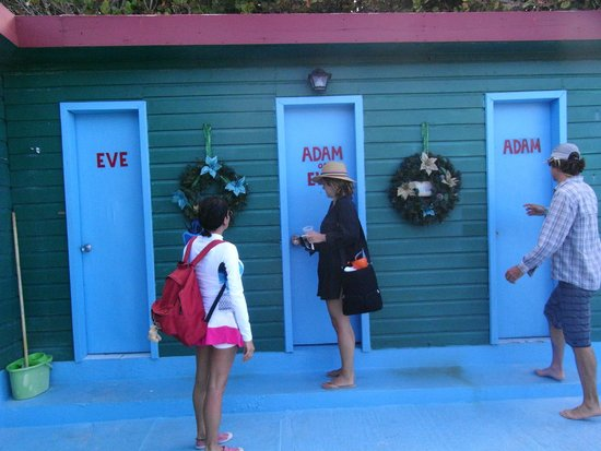 Anegada Island: Restrooms at the beach - take your pick!