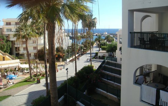 Pueblo Torviscas: view from room to harbour