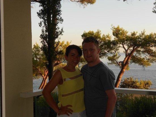 Hotel Croatia Cavtat : On our room balcony