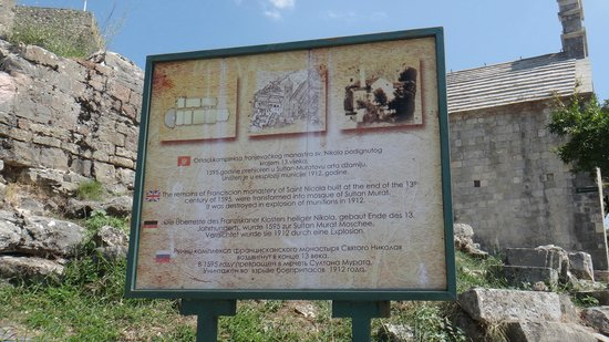 Bar Stari Grad: The billboard at the fortress