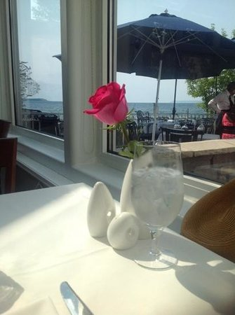 The view out and across the lake, from my table at Blu