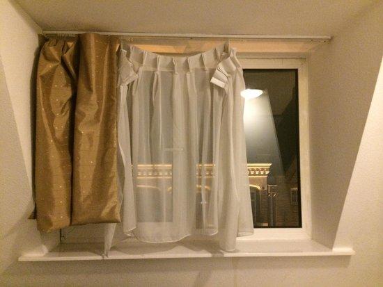 France Hotel Amsterdam: Broken short curtains