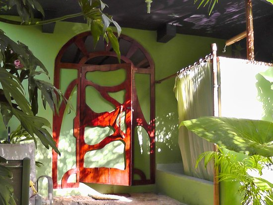 Genesis Eco-Oasis: Entry to room and outdoor shower