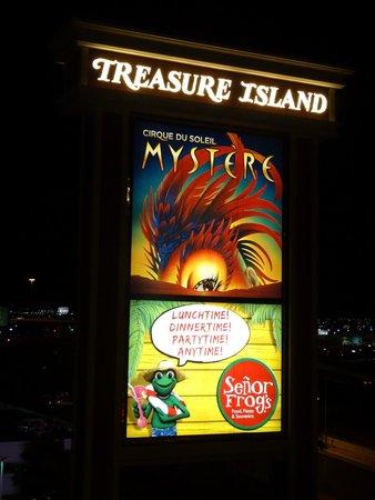 Treasure Island - TI Hotel & Casino: The TI sign