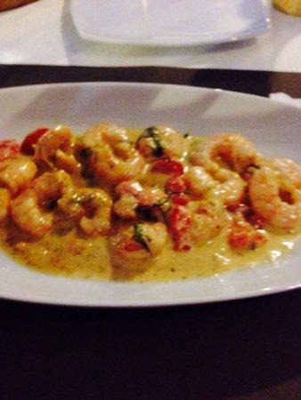 Saradari: Crevettes poêlées à l'Ouzo