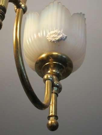 London Aparthotel: Spit wad on light fixture -- there were two - gross!