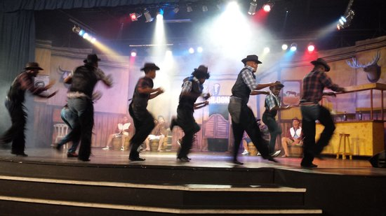 Dreams Punta Cana Resort & Spa : western show with the Entertainment team awesome show