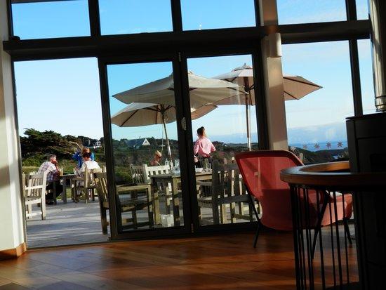 Polurrian Bay Hotel: View from inside the Vista lounge
