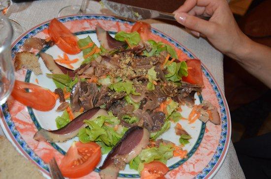 Auberge de Mirandol: salade du pays