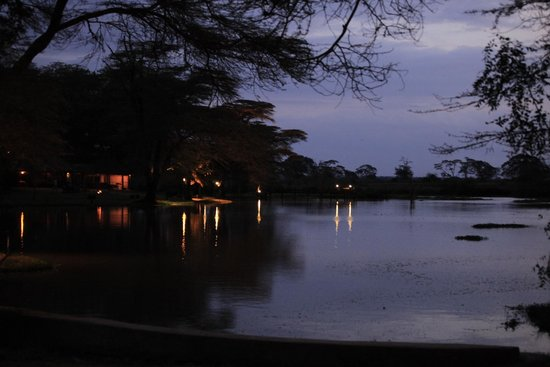 Voyager Ziwani, Tsavo West: View over the lake from our tent