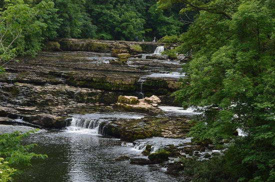 Aysgarth Falls: Upper Falls-walking on water