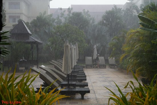 Angkor Miracle Reflection Club: Rain