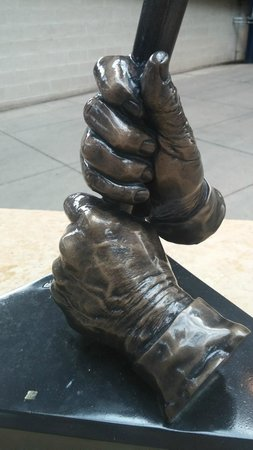 PNC Park: Where else would you find a statue of a pair of hands? In this case, Ralph Kiner's.