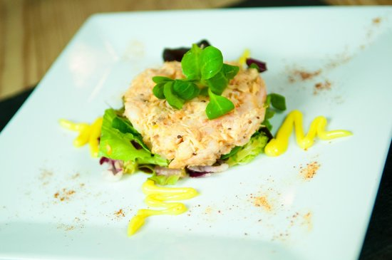 Chetnole, UK: Seafood tian