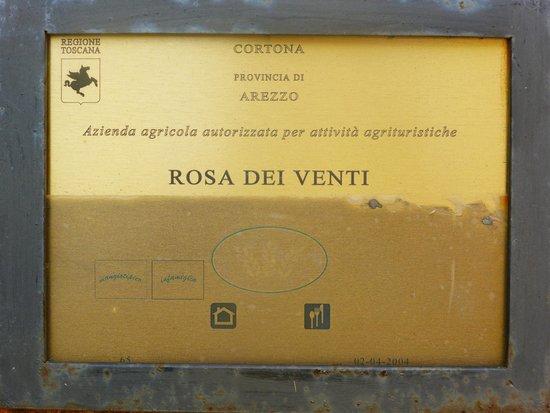 Villa Rosa dei Venti: Sign at front gate