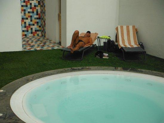 Axel Beach Maspalomas: Espace Jacuzzi, sauna et hammam