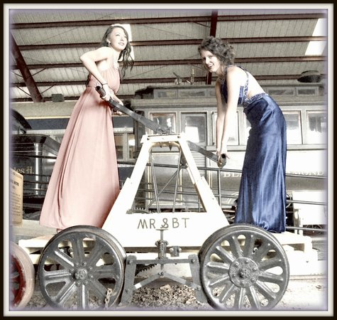 """Museum of Transportation: """"o Brother Where Art Thou""""....  Homecoming photo op at Museum of Transport"""