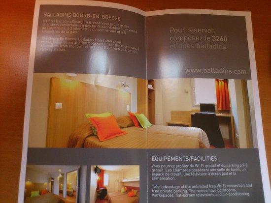 Hotel balladins Bourg-en-Bresse/Viriat: prospectus de l'hôtel