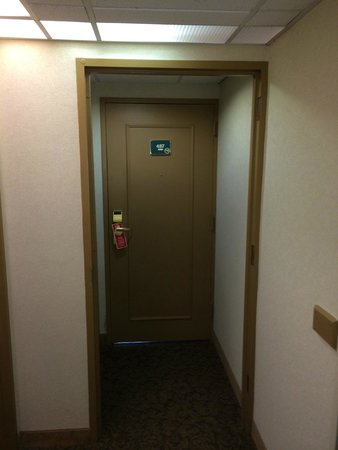 Lancaster Host Resort and Conference Center: My room door, a long walk (or short drive--I did both) from the lobby.