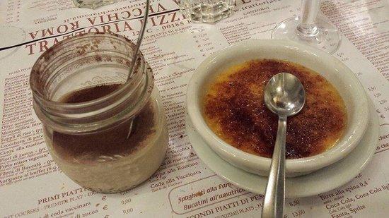 Trattoria Vecchia Roma: Crema catalana e tiramisu in vasetto:)