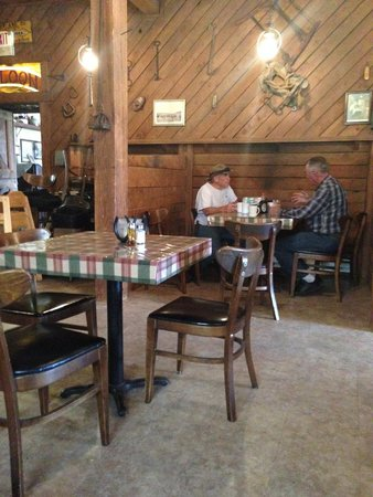 Livery Stable: Locals enjoying current topics over some joe